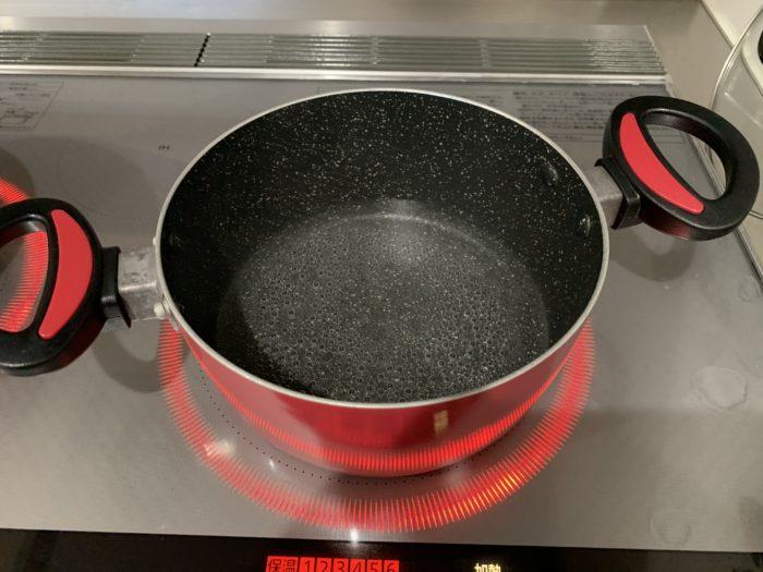 ガシラの煮付け(水と料理酒)
