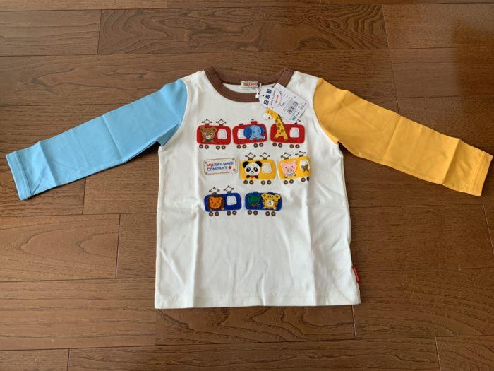 2020年ミキハウス福袋 ロングTシャツ