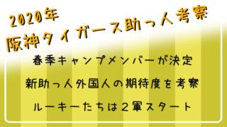 2020年阪神タイガース新助っ人外国人考察