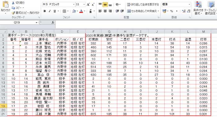 VLOOKUP関数の応用:データベースを準備
