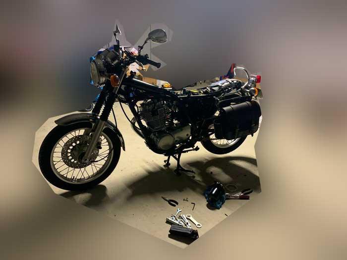 バイクの一括査定 直せる所は自分で直す